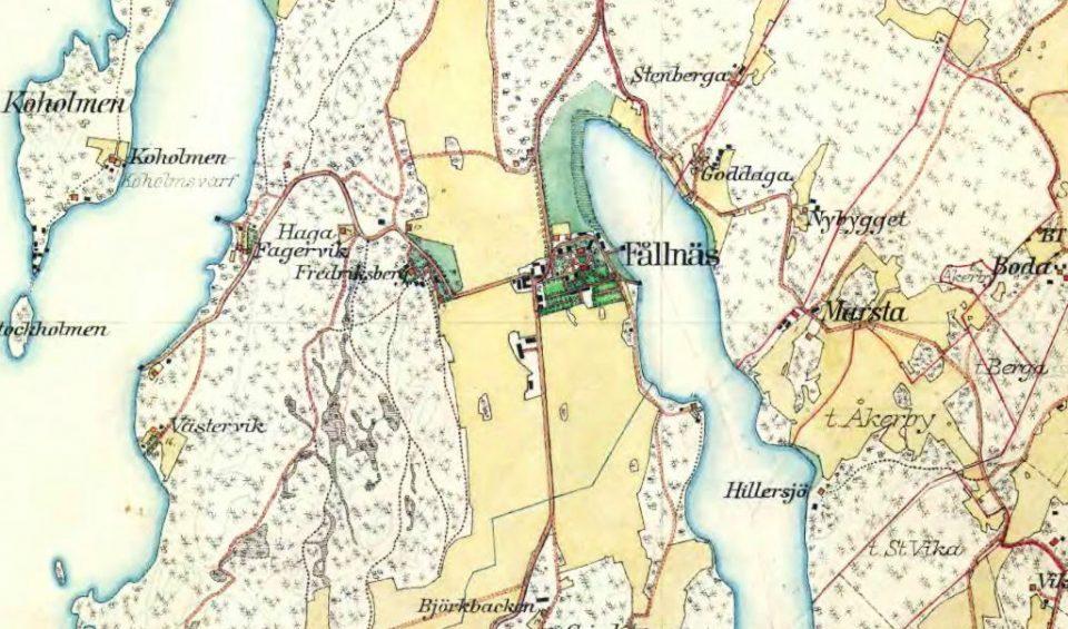 Fållnäs på kartan
